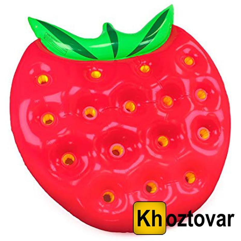 "Надувной матрас ""Клубника"" Strabwerry Inflatable Water Floating Row"