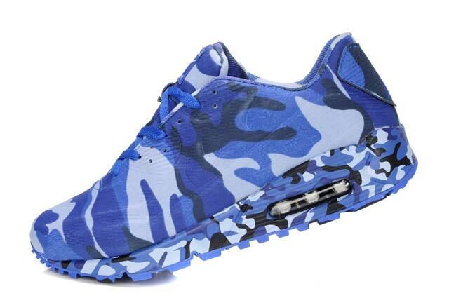 Женские кроссовки камуфлированные Nike Air Max 90 VT синие - Интернет  магазин обуви Shoes-Mania f87ab63359d