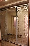 Шкаф купе 3х-дверный ширина 2200мм, глубина 600мм, высота 2400мм, для гостинной. Одесса, фото 3
