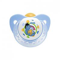Пустышка-cоска латексная ортодонтическая 0-6 месяцев с колечком Nuk Trendline Disney р.1 НУК