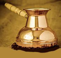 """Медная турка для кофе на подарок """"Золото"""" 500 мл"""