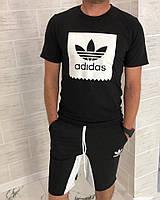 Костюм мужской из трикотажа с шортами на завязках Адидас Копия (К27864), фото 1