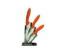 Набор ножей Giakoma керамических из 3 предметов Оранжевый (1749)