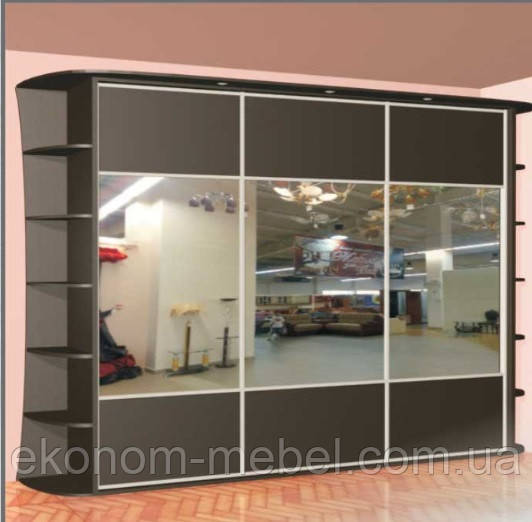 Шкаф купе 3х-дверный ширина 2400 мм, глубина 600мм, высота 2100мм. Одесса