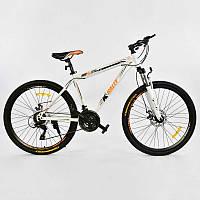 "Велосипед Спортивный CORSO 26""дюймов 0010 - 728 WHITE-ORANGE K-Rally (1)"