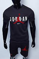 Костюм футболка с шортами мужской Nike x Jordan 15960 черный реплика