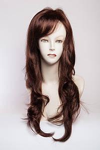 Длинный волнистый парик №5,цвет каштановый с красным оттенком