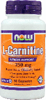 L-карнитин, Now Foods, L-Carnitine 250mg, 60caps