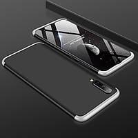 Чохол GKK 360 для Samsung Galaxy A50 2019 / A505 Бампер оригінальний Black-Silver