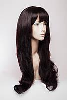 Длинный ровный парик №11.Цвет баклажан