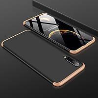 Чохол GKK 360 для Samsung Galaxy A50 2019 / A505 Бампер оригінальний Black-Gold