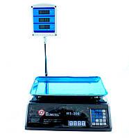 ✅ Продуктовые электронные торговые весы для магазина Domotec (MS-308) Черного цета для продуктов