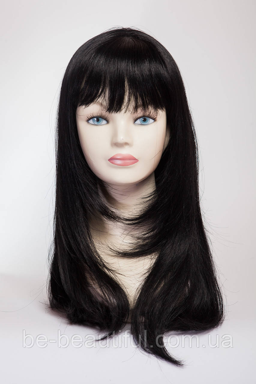 Длинный ровный парик №4 Цвет черный