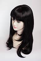 Длинный ровный парик №5,Цвет черный