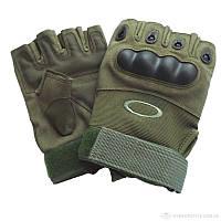Тактические перчатки Oakley с защитой без пальцев хаки