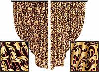 Ткань для штор блэкаут Винтаж № 06 (двухсторонняя)