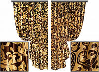 Ткань для штор блэкаут Винтаж № 07 (двухсторонняя)