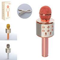 Микрофон для ценителей караоке с bluetooth и USB, WS-858