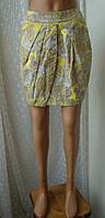 Юбка женская модная тюльпан хлопок лето мини бренд H&M р.42, фото 1