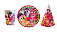 Набор праздничный Мой маленький Пони на 1 персону Розовый