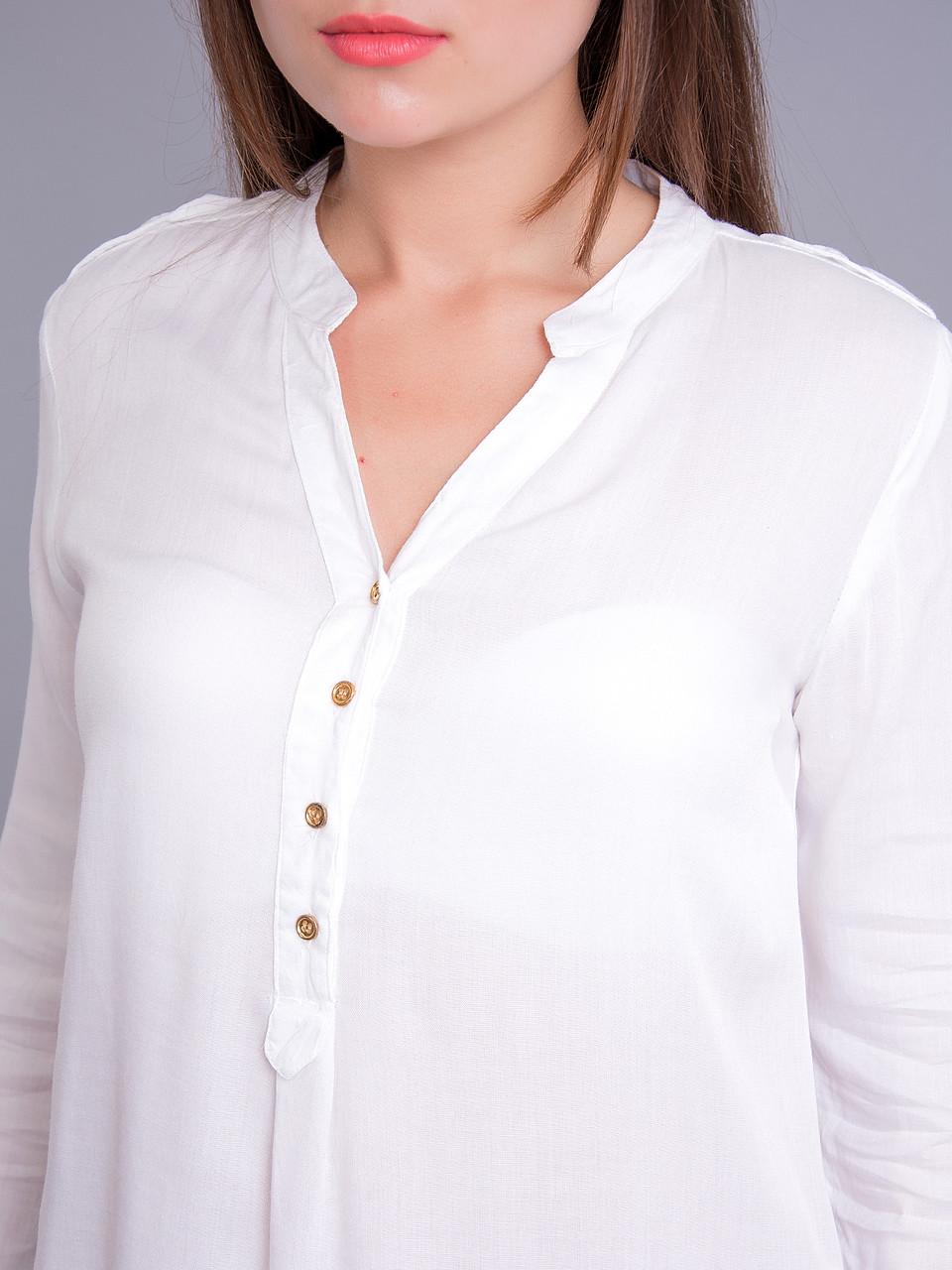Белая Блузка Длинная