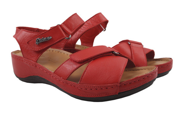 Босоножки , сандали женские на платформе Paloma натуральная кожа, цвет красный