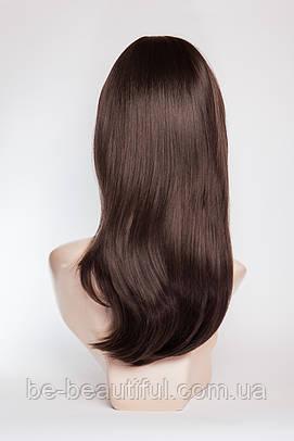 Длинный ровный парик №1,цвет молочный шоколад