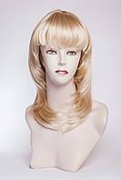 Длинный ровный парик №1,цвет мелирование пшеничный с белым