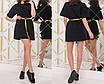 Легкое женское черное платье из турецкого коттона, размеры: 42-44, 44-46, фото 2