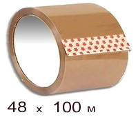 Скотч упаковочный 48 × 100 коричневый