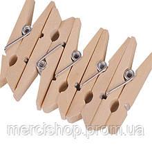 Декоративные мини прищепки деревянного(древесного) цвета, Craft, клип, декор 3,5 см (50 шт.)