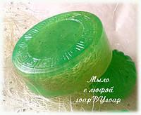 """Мыло с люфой """"Зеленый чай и киви"""""""