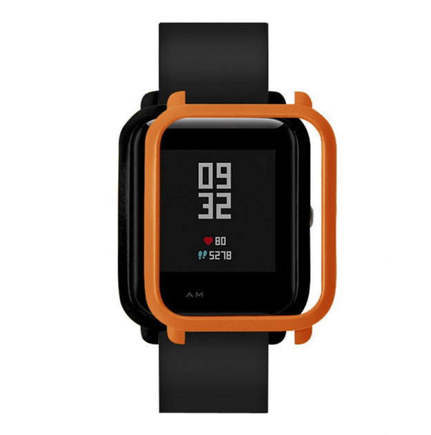 Накладка бампер для часов Xiaomi Amazfit Bip Оранжевая (1010507)