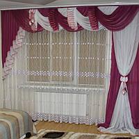 Шикарный комплект с ламбрекеном для гостиной, фото 1