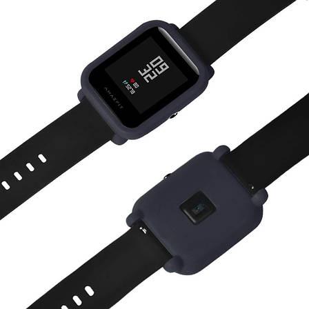 Силиконовый чехол Tamister на весь корпус для Xiaomi Amazfit BIP Темно-Синий (1010605), фото 2
