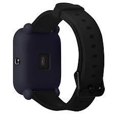 Силиконовый чехол Tamister на весь корпус для Xiaomi Amazfit BIP Темно-Синий (1010605), фото 3