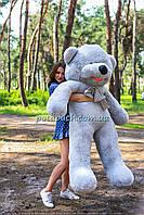 Величезний плюшевий ведмедик Дейман 210 см сірий, фото 1