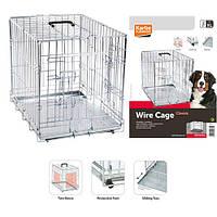 КАРЛИ-ФЛАМИНГО WIRE CAGE 2-х дверная хромированная клетка для собак 77*47*54 см