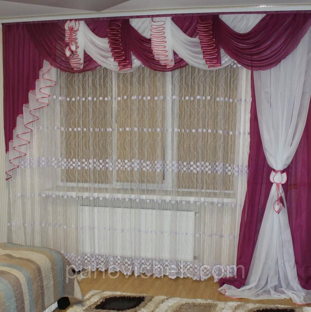 Готовый ламбрекен и штора для спальни