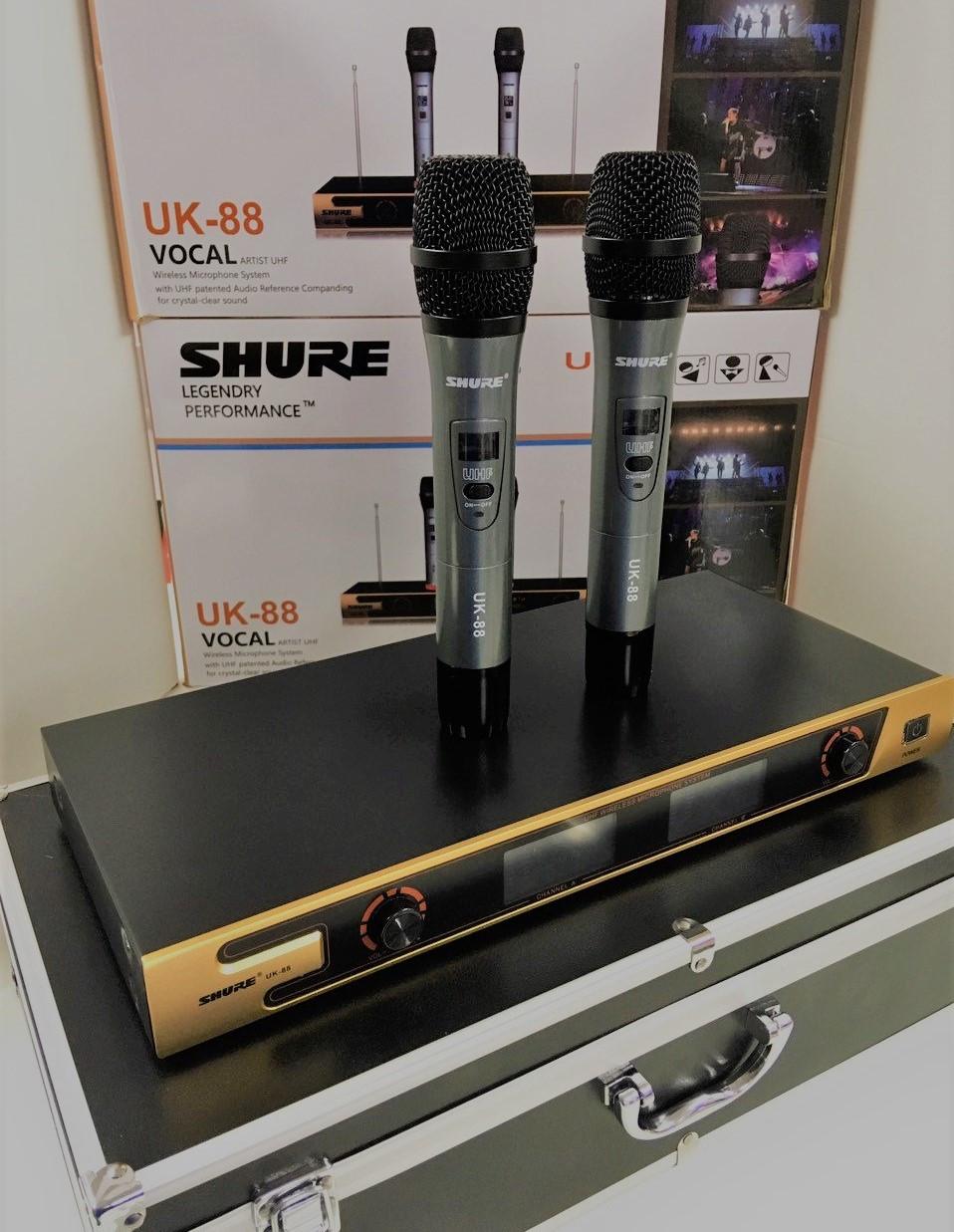 Радиосистема SHURE UK-88,база + 2радиомикрофона