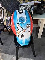 "АЭРОГРАФИЯ НА БАКЕ Ducati ""Пингвин"""