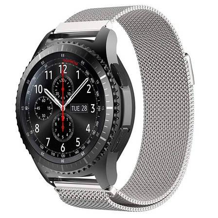 Ремешок BeWatch миланская петля для Samsung Galaxy Watch 46 мм Серебро (1020205.2), фото 2