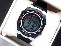 Водонепроницаемые спортивные наручные часы LSH-1080 - черные с красными серым