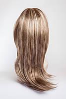 Длинный ровный парик №1,цвет мелирование русый с белым