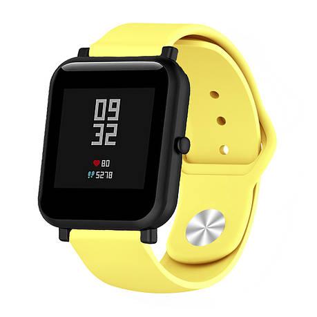 Ремешок BeWatch силиконовый для Xiaomi Amazfit BIP Желтый (1010320), фото 2