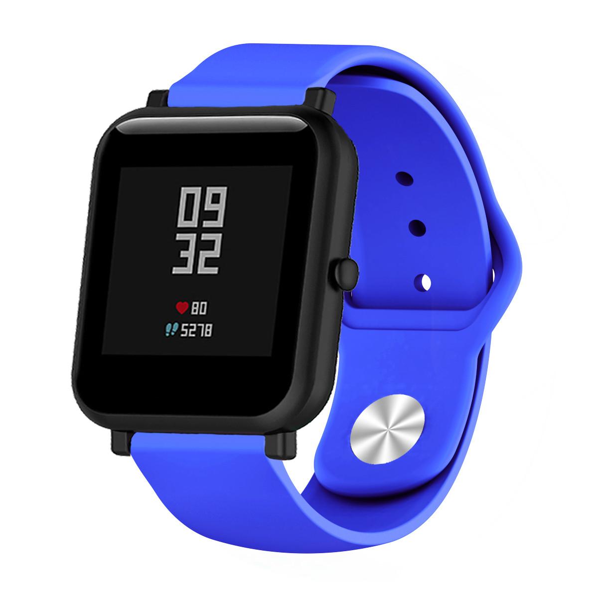 Ремешок BeWatch силиконовый для XiaomiAmazfit BIP Синий (1010305)