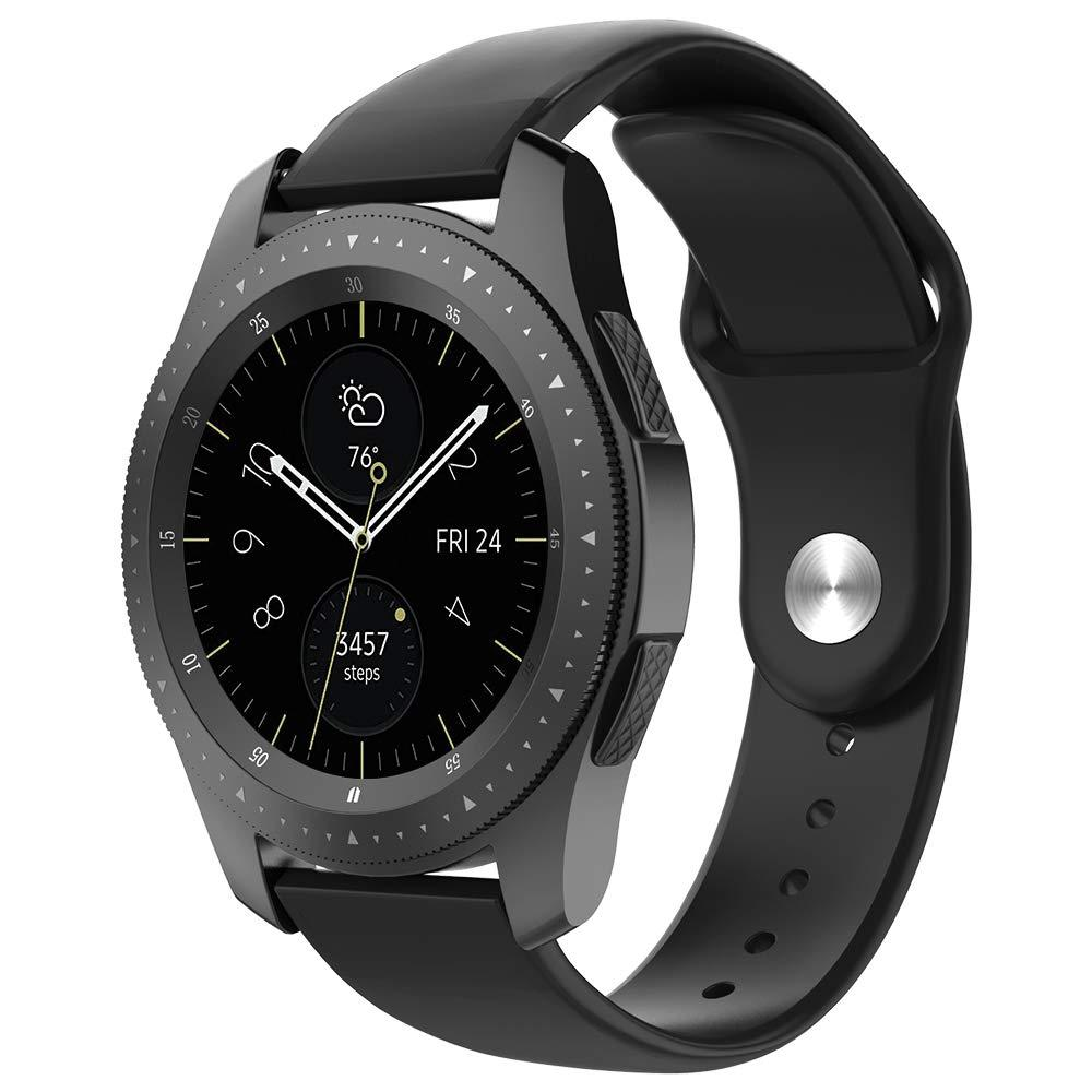 Ремешок силиконовый BeWatch для смарт-часов Samsung Galaxy Watch 42 мм Черный (1010301.2)