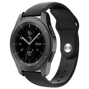Ремешок силиконовый BeWatch для смарт-часов Samsung Galaxy Watch 42 мм Черный (1010301.2), фото 2