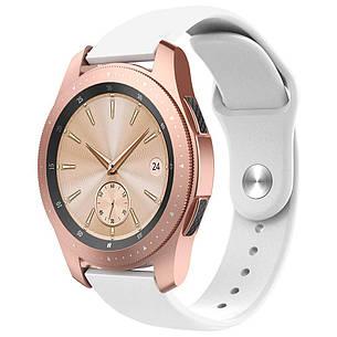 Ремешок BeWatch силиконовый для Samsung Galaxy Watch 42 мм Белый (1010302.2), фото 2