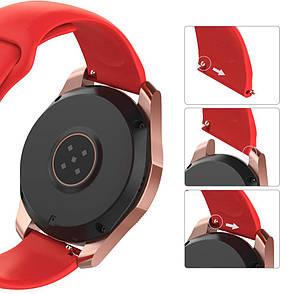 Ремешок BeWatch силиконовый для Samsung Galaxy Watch 42 мм Красный (1010303.2), фото 2